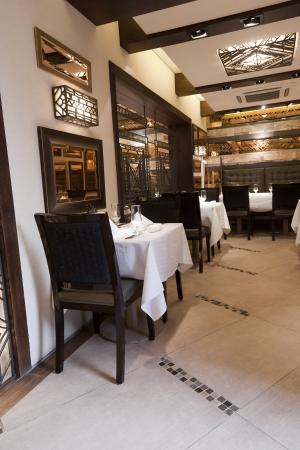 decore: interior of a modern design restaurant