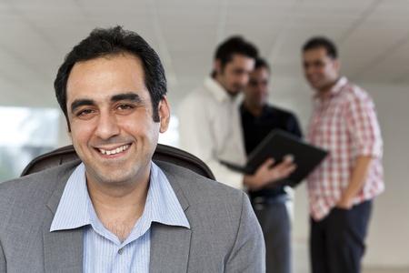 Portrait of a mature Indian muslim businessman photo