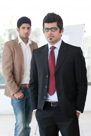 portrait of two businessmen photo