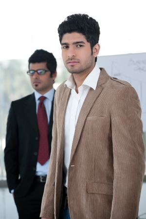 indian professional: portrait of two businessmen