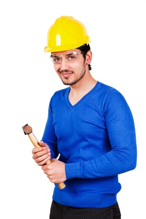 contruction: contruction worker Stock Photo