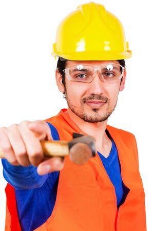 contruction: contruction worker Stock Photo