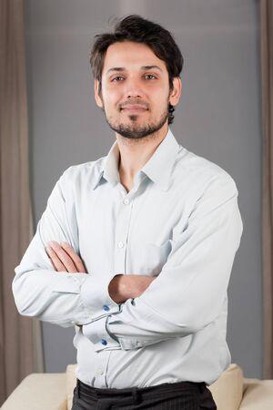 indian businessman: portrait of a handsome mixed race businessman