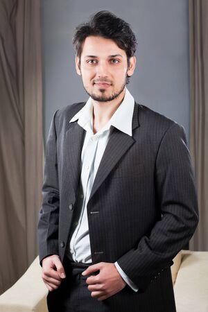 portrait of a handsome mixed race businessman