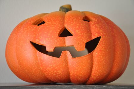 jack o latern: Ceramic Halloween pumpkin Stock Photo