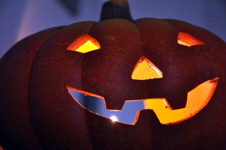 jack o latern: Illuminated Halloween pumpkin
