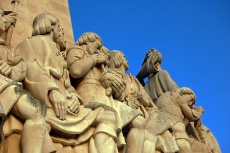 descubridor: Monumento aos Descubridores en Lisboa (Portugal) un homenaje a los descubridores y navegantes portugueses.