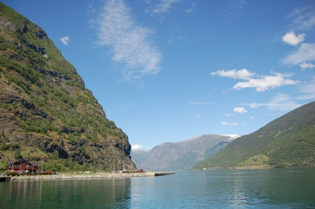the deepest: The Sognefjord, the Norways longest and deepest fjord.