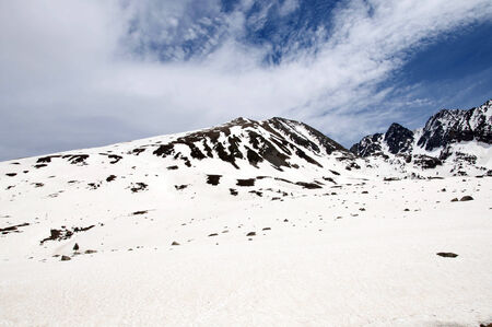 tourism in andorra: Snowed Mountains in the Pyrenees, Andorra