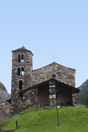 tourism in andorra: Church of Sant Joan de Caselles in Canillo, Andorra. A romanesque church from XII century.