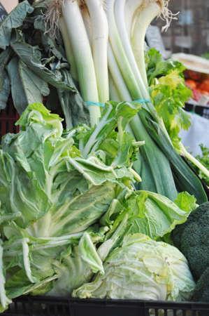 seasonal: A market stand selling seasonal vegetables