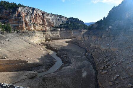 Empty Santolea reservoir