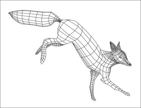 Wireframe Landing Fox