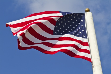 american flag waving Stock Photo - 11645128