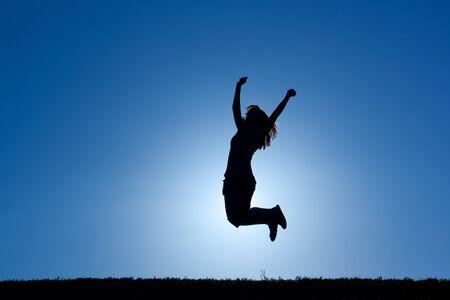 celebration jump Stock Photo