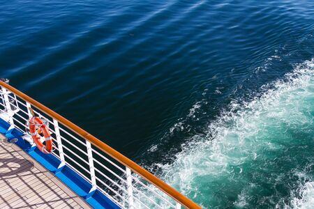 cruise ship breaking waves