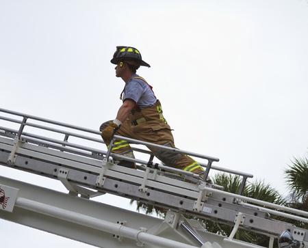 fireman at scene on ladder