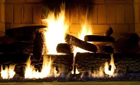 fireplace a blaze