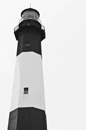 lighthouse on white Stok Fotoğraf