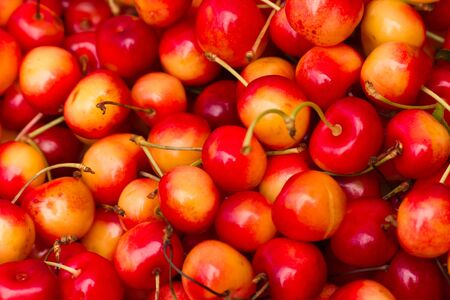 cherries in a bunch Stock Photo