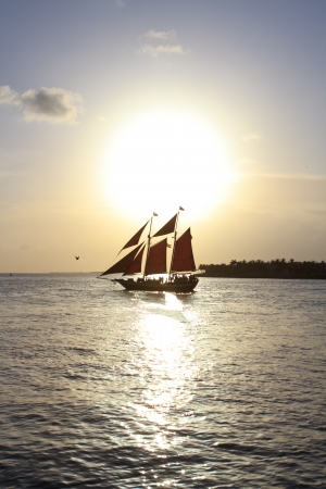 pirate vessel on the ocean photo