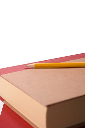 study books and pencil Stock Photo - 10876478