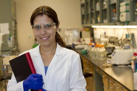 young female scientist in the lab Archivio Fotografico