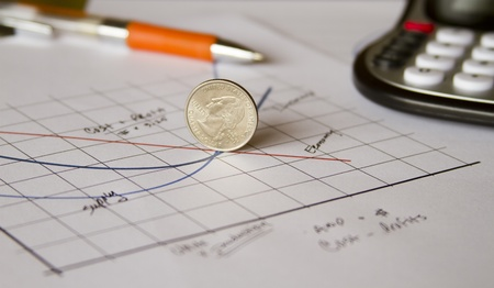 economic quarter on graph photo