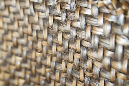 macro shot of weave material Stock Photo