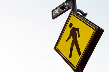 pedestrian cross walk zone Stock Photo