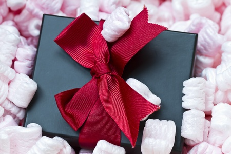 gift box arrival in packaging Stock Photo - 12200478