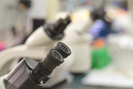 microscopes in lab Zdjęcie Seryjne