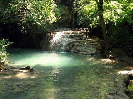 waterfalls near Kroshuna Stock Photo - 4041486