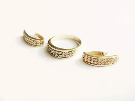 rings and earrings Stock Photo - 4041447