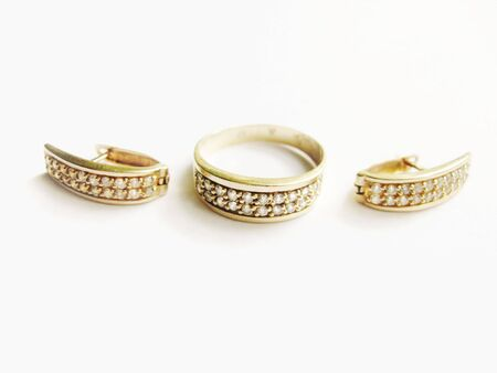 rings and earrings Stock Photo - 4041450
