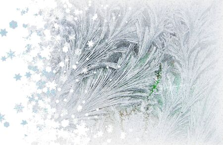 frost and snowflakes