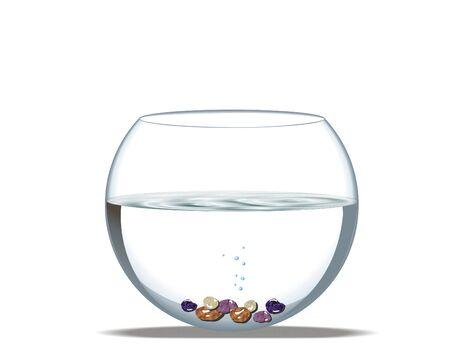 aquarium with boulders Stock Photo