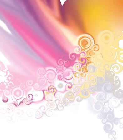 beautiful background with curly spirals and tender colors