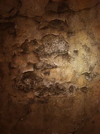 dint: crannied plaster with light place