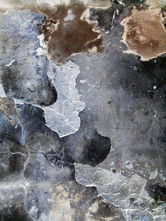 close-up of old crannied plaster