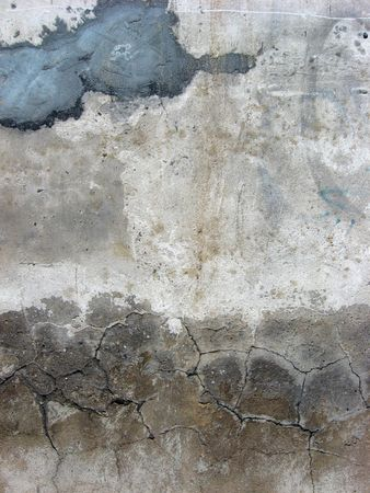 close-up of  old crannied plaster Stock Photo