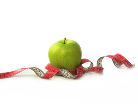 apple with red centimeter tape Stock Photo - 7123566
