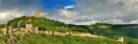 panoramic view of Tsarevets fortress in Veliko Turnovo, Bulgaria