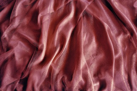 close-up of satin textile for background, clothing material Stock Photo