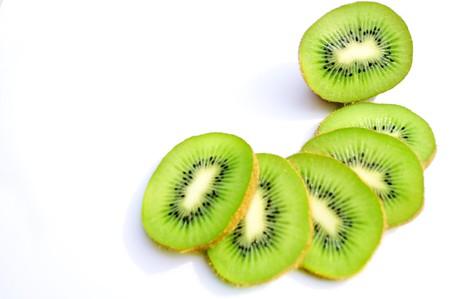 close up of kiwi fruit Stock Photo