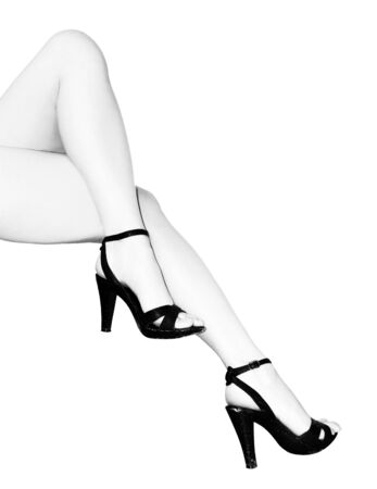 lady`s legs with highheels