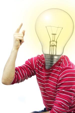 young man having idea