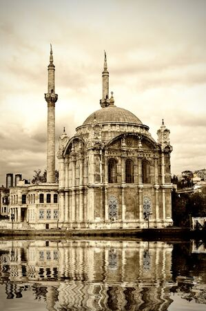 Ortakoy mosque at Bosphorus in Istanbul Stock Photo