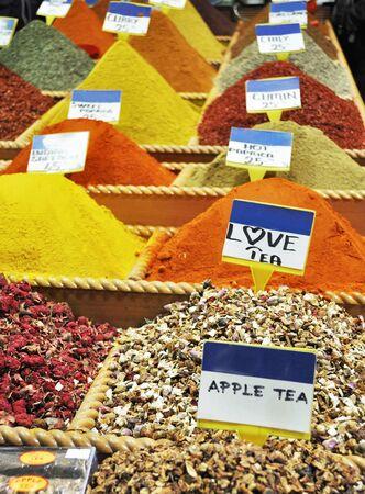 Turkey, Istanbul, Spice Bazaar, turkish spices for sale photo