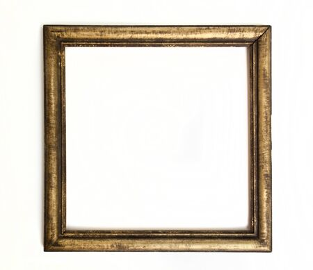 gold antique frame isolated on white background Stock Photo - 10105457